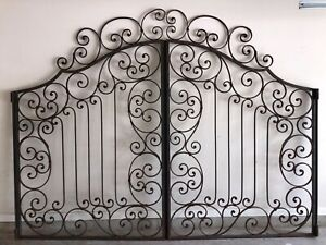 Wrought Iron Ornamental Heavy Gates From France Early 20th Century