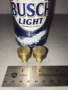 Pair Small Brass Grease Oil Cup Hit Miss Gas Engine Steam Antique 1 8 Pipe
