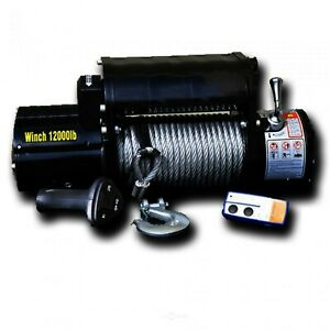 Dv8 Offroad 12000 Lb Winch W Steel Cable Wireless Remote Black Dvewb12sc