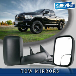 L R For 1998 2001 Dodge Ram 1500 2500 3500 Power Heated Towing Mirrors