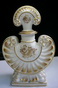Antique S Vres Marked French Glided Gilted Porcelain Scent Bottle