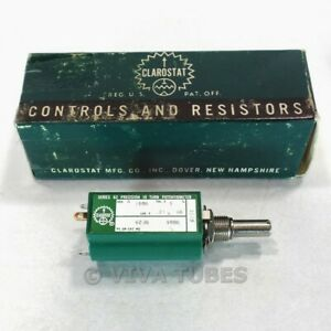 Nos Nib Clarostat 62ja Series 62 Precision 10 Turn Potentiometer 10k Ohm