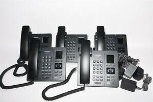 Lot Of 5 Panasonic Kx tpa65 Dect Sip Wireless Business Desk Phone Handset