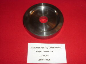 Vintage Adapter Backing Clamping Plate For Use With 1 Arbor Brake Lathe Adapters
