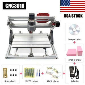 3018 Cnc Machine Router 3axis Engraving Pcb Wood Carving Diy Milling Kit Er11