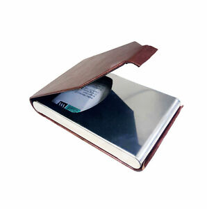 Luxury Leather Business Credit Card Holder Multi Card Case Id Mens Ladies