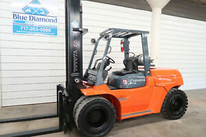 2006 Toyota Forklift 7fgu60 13 500 Pneumatic Lp Gas Two Stage Sideshift