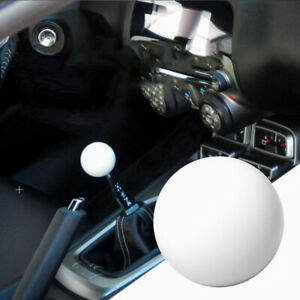 Jdm Glossy White Round Ball Shift Knob For Toyota Scion Wrx Subaru M12x1 25