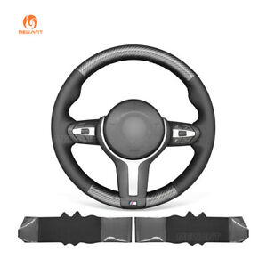 Pu Leather Carbon Fiber Steering Wheel Cover For Bmw F22 F30 F32 M3 M4 M5 X3 X4