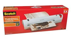 new Scotch Tl1302 Thermal Laminator 13 Input Home Office Work Papers School