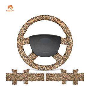 Diy Leopard Pu Leather Steering Wheel Cover For Ford Kuga Focus 2 C Max Transit