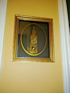 Big Ben Framed Art Deco Clock Hand Made In England With Clock Watch Parts