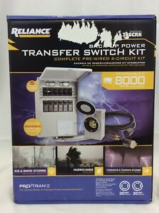 Reliance 306c Pro Tran 2 Generator Power Transfer Switch Kit 6 Circuit