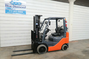 2015 Toyota 8fgcu25 5 000 Cushion Tire Forklift Triple Sideshift Low Hours