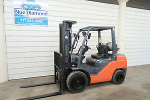 2010 Toyota 8fgu30 6 000 Pneumatic Tire Forklift Lp Gas 3 Stage Sideshift