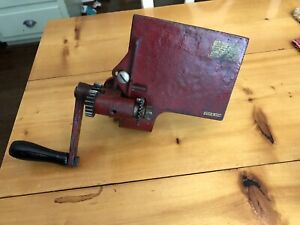 Schul Sons Hand Crank Pink Shear Antique Vintage Sewing Machine Cast Iron