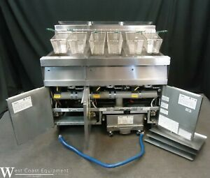 2014 Frymaster Decathlon 3 Well Commercial Gas Fryer W Filter System Perfect