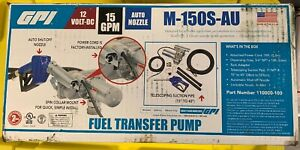 Gpi M 150s au Fuel Gas Diesel Transfer Pump new In Box Free Ground Shipping