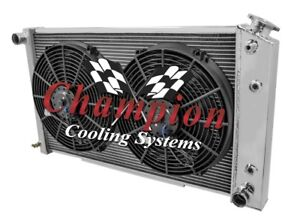 4 Row Perf Radiator 26 Core W 2 12 Fans For 1970 1981 Chevrolet Camaro