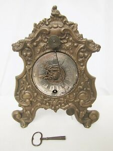 Antique French Metal And Bronze Clock