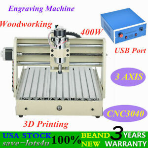 Usb 3 Axis 400w 3040 Cnc Router Engraver 3d Cut Carve Drill Machine Woodworking