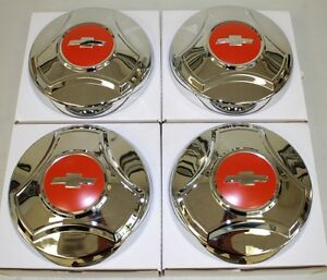 1964 1965 1966 Chevrolet Truck 1 2 Ton Hubcap New Set Of 4 Chrome 64 1130