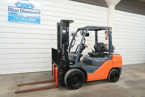 2016 Toyota 8fgu30 6 000 Pneumatic Tire Forklift Lp Gas 3 Stage Sideshift