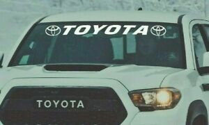 Window Decals Toyota Models Tacoma Tundra Vinyl Graphics 4runner Windshield Sign