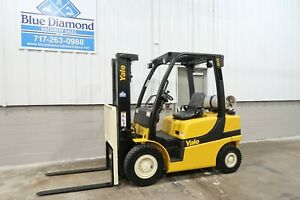 2013 Yale Glp050vx 5 000 Pneumatic Forklift Lp Gas Three Stage Toyota Lift