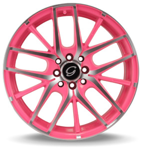 18x8 G Line G 0029 Dual Drilled 5x100 114 3 Pink Machined Wheels 35mm