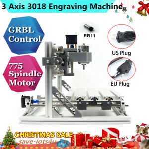 3 Axis 3018 Mini Engraver Desktop Cnc Router Engraving Milling Machine Pcb Metal