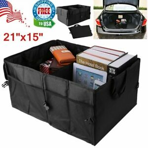 Car Trunk Organizer Cargo Suv Truck Storage For Groceries Folding Collapsible Bb