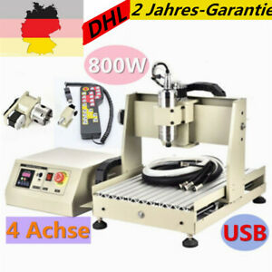 Usb 4axis 3040 Cnc Router Engraver Woodworking Engraving Milling Machine 800w rc
