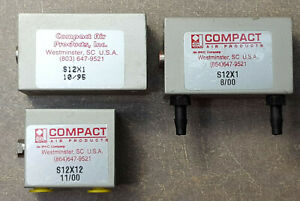 Lot Of 3 Compact Pneumatic Air Cylinder S12x1 And S12x12