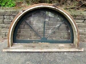 Antique Victorian Curved Arched Transom Window Frame Architectural Salvage