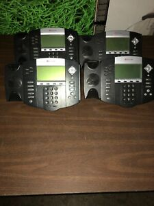 Polycom Soundpoint Ip 650 Voip Phone Lot Of 4 no Headsets