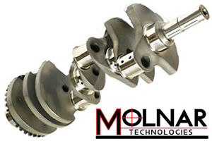 Molnar 4 375 Chevy 454 Bbc Crankshaft 8 Weights 6 385 Min Rods