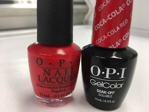 OPI GELCOLOR+ MATCHING GEL POLISH COCA-COLA RED
