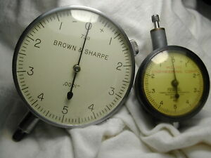 Brown Sharpe Federal 0001 Machinists Gauges B s Is 67mm Houdaille 42mm