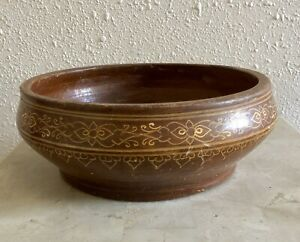Attractive Beautifully Design Grained Wooden Fruit Bowl Hand Made