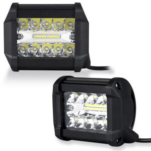 2x 4 200w Cree Led Work Lights Off Road Jeep Truck Atv Utv Driving Fog Lamps
