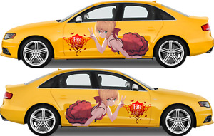 Fate extra Anime Girl Cute Car Doors Vinyl Sticker Graphics Decal Fit Any Auto