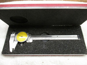 Vintage Starrett 120m 150 Metric Dial Caliper In Original Case