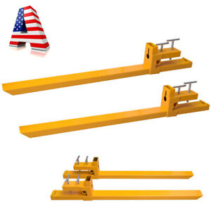 Usa Clamp On Pallet Forks 3500 2000lbs Capacity Loader Bucket Skidsteer Tractor