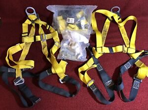 Lot Of 3 Alta Fall Protection Roofing Safety Harness s 1 Lanyard Rope 6 Sz Sml
