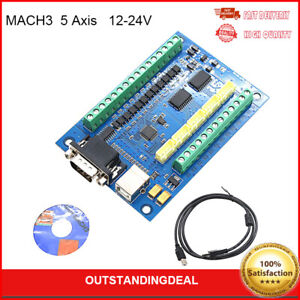 Mach3 Cnc Motion Control Card 5 Axis Usb Cnc Breakout Board For Cnc 12 24v Ot16