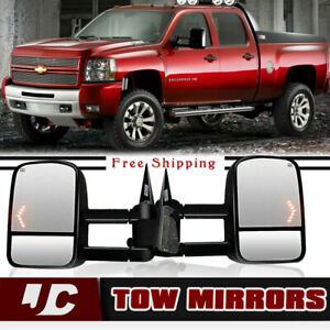 New Style Tow Mirrors For 03 06 Chevy Silverado Gmc Sierra Power Heated