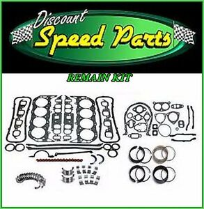 Chevy Sbc 350 5 7l 2 Pc Seal Engine Rering Remain Kit Bearings Gaskets Rings