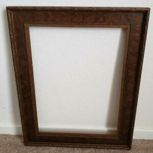 Vintage 1920 S 10 3 4 X 14 1 4 Arts And Crafts Wood Picture Frame
