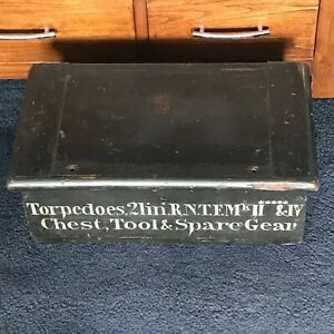 Antique Wooden Military Box Chest Trunk 17 5 X 10 X 6 5 Inches